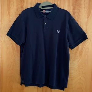 Chaps Polo Short Sleeve Navy Large